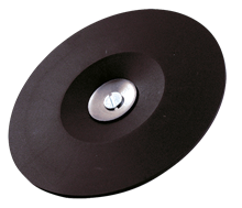 RUBBER GRINDING DISC, 6 MM ROD