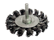 KNOTTED STEEL WIRE CIRCULAR BRUSH