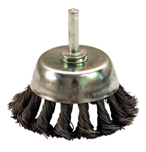 KNOTTED STEEL WIRE CONICAL BRUSH
