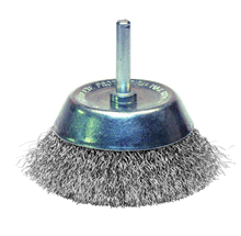 CRIMPED STAINLESS STEEL WIRE CONICAL BRUSH