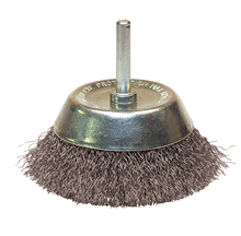 CRIMPED STEEL WIRE CONICAL BRUSH