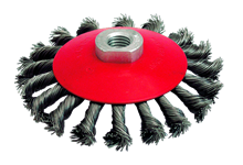 KNOTTED STEEL WIRE CUP BRUSH