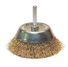 CRIMPED BRASS WIRE CONICAL BRUSH