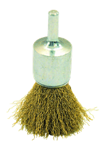 CRIMPED BRASS WIRE LONG BRUSH