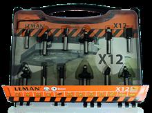BOX OF 12 CARBIDE DRILL BITS SHANK 6 MM