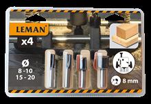 BOX OF 4 CARBIDE DRILL BITS SHANK 8 MM