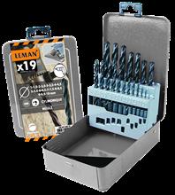 BOX OF 19 HSS METAL DRILL BITS -