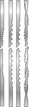 ASSORTMENT OF 12 SCROLL SAW BLADES