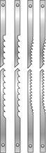 ASSORTMENT OF 12 SCROLL SAW BLADES WITH LUGS