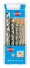 BOX OF 5 HSS DRILL BITS FOR WOOD