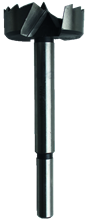 STEEL FORSTNER BIT WITH DISTORTED PERIPHERAL CUT
